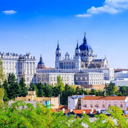 ПАНОРАМНЫЙ ВИД НА СОБОР АЛЬМУДЕНА в Мадриде